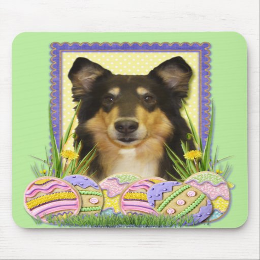 Easter Egg Cookies - Collie Mouse Pads