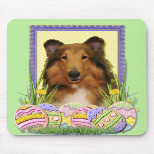 Easter Egg Cookies - Collie Mousepads