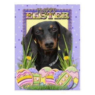 Easter Egg Cookies - Dachshund Postcard