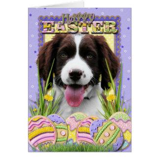 Easter Egg Cookies - English Springer Spaniel Card