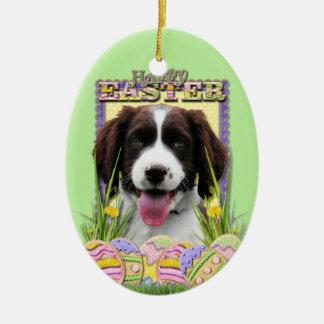 Easter Egg Cookies - English Springer Spaniel Ceramic Oval Decoration