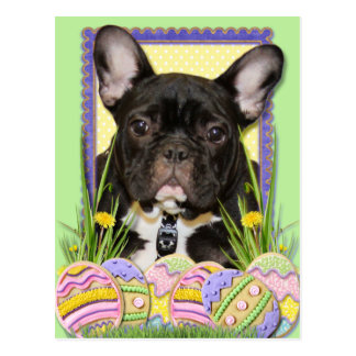 Easter Egg Cookies - French Bulldog Postcard