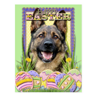 Easter Egg Cookies - German Shepherd Postcard