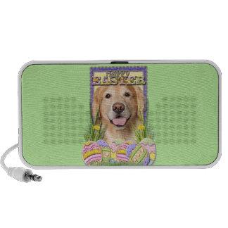 Easter Egg Cookies - Golden Retriever - Corona Notebook Speakers