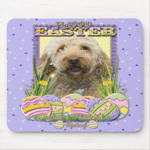 Easter Egg Cookies - GoldenDoodle Mousepads