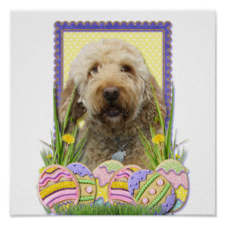 Easter Egg Cookies - GoldenDoodle Poster