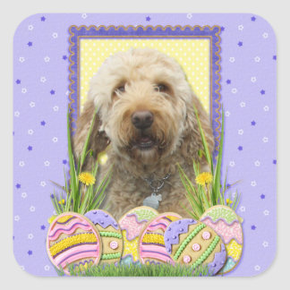 Easter Egg Cookies - GoldenDoodle Square Sticker