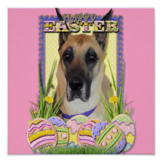 Easter Egg Cookies - Great Dane - Fawn Posters