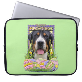 Easter Egg Cookies - Greater Swiss Mountain Dog Laptop Computer Sleeve