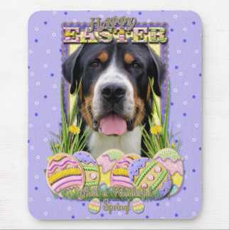 Easter Egg Cookies - Greater Swiss Mountain Dog Mousepad