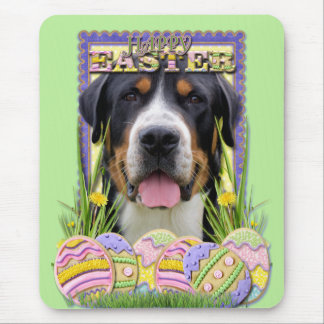 Easter Egg Cookies - Greater Swiss Mountain Dog Mousepads