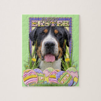 Easter Egg Cookies - Greater Swiss Mountain Dog Jigsaw Puzzles