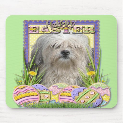 Easter Egg Cookies - Lowchen Mousepad