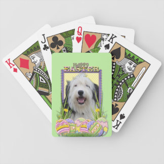 Easter Egg Cookies - Old English Sheepdog Bicycle Playing Cards