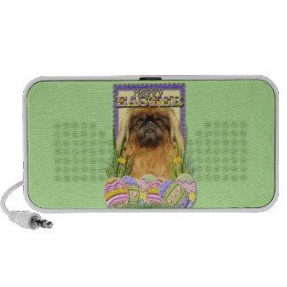 Easter Egg Cookies - Pekingese - Pebbles iPod Speakers