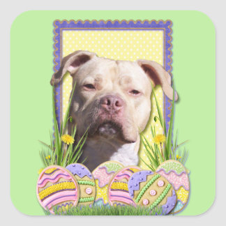 Easter Egg Cookies - Pitbull - Jersey Girl Square Sticker