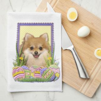 Easter Egg Cookies - Pomeranian Tea Towel