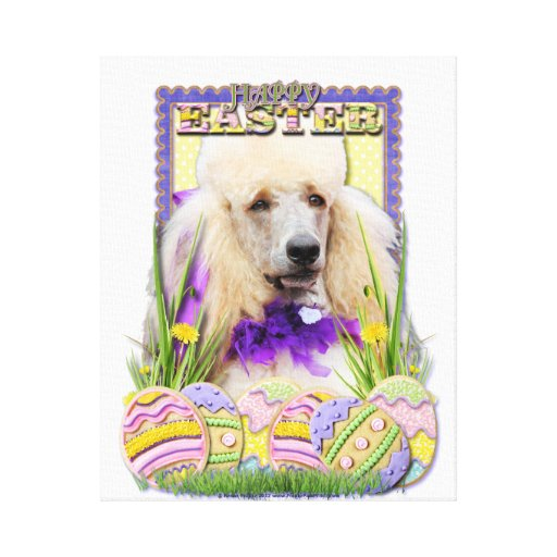 Easter Egg Cookies - Poodle - Champagne Stretched Canvas Prints