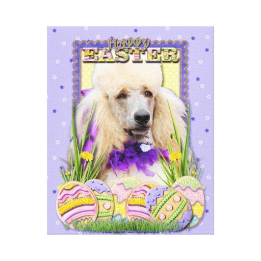 Easter Egg Cookies - Poodle - Champagne Canvas Prints