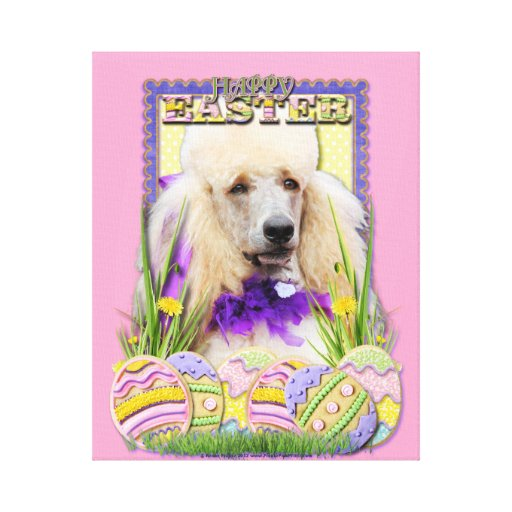 Easter Egg Cookies - Poodle Champagne Stretched Canvas Print