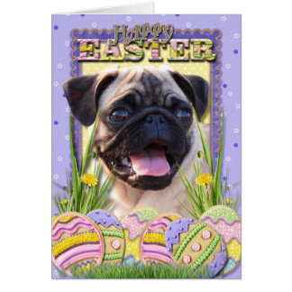 Easter Egg Cookies - Pug Card