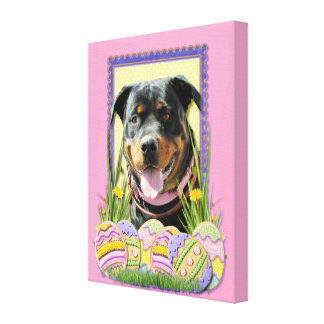 Easter Egg Cookies - Rottweiler Canvas Prints