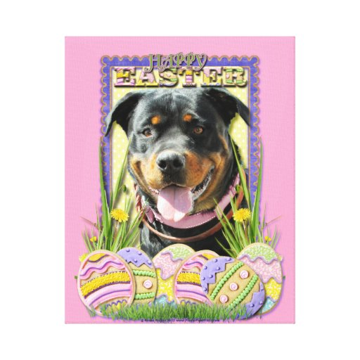 Easter Egg Cookies - Rottweiler Canvas Print