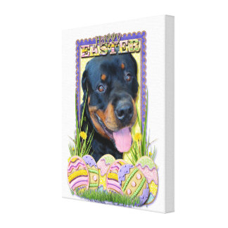 Easter Egg Cookies - Rottweiler - Harley Stretched Canvas Prints