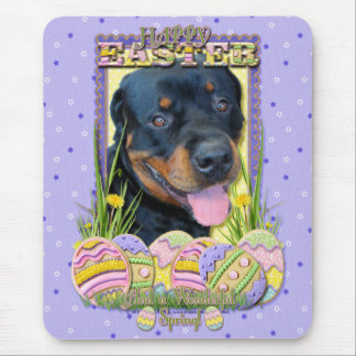 Easter Egg Cookies - Rottweiler - Harley Mouse Pad