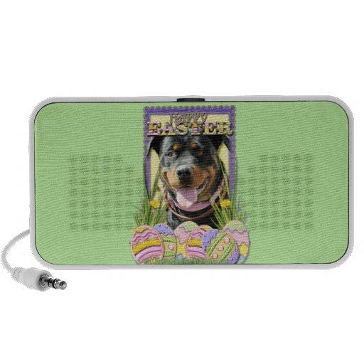 Easter Egg Cookies - Rottweiler Notebook Speakers