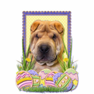 Easter Egg Cookies - Shar Pei Standing Photo Sculpture