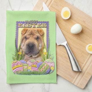 Easter Egg Cookies - Shar Pei Tea Towel