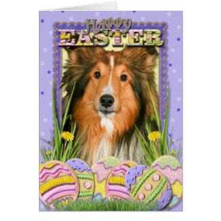 Easter Egg Cookies - Sheltie Card
