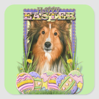 Easter Egg Cookies - Sheltie Square Sticker