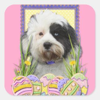 Easter Egg Cookies - Tibetan Terrier Stickers