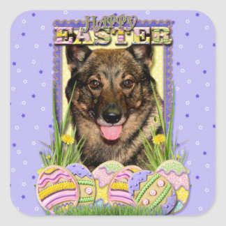 Easter Egg Cookies - Vallhund Square Stickers