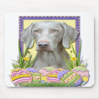 Easter Egg Cookies - Weimaraner Mouse Pad