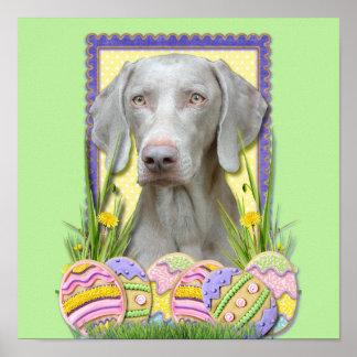 Easter Egg Cookies - Weimeraner Poster