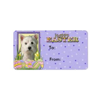 Easter Egg Cookies - West Highland Terrier Label