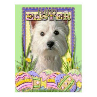 Easter Egg Cookies - West Highland Terrier Postcard