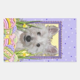 Easter Egg Cookies - West Highland Terrier - Tank Rectangular Stickers