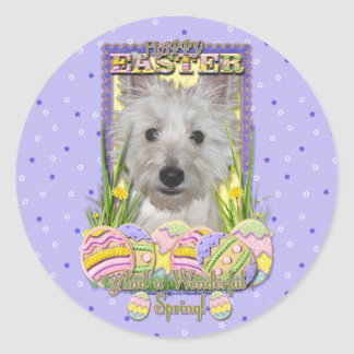 Easter Egg Cookies - West Highland Terrier - Tank Classic Round Sticker