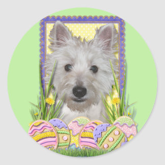 Easter Egg Cookies - West Highland Terrier - Tank Sticker