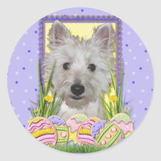 Easter Egg Cookies - West Highland Terrier - Tank Round Stickers