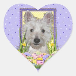 Easter Egg Cookies - West Highland Terrier - Tank Heart Sticker