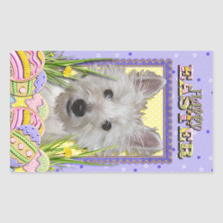 Easter Egg Cookies - West Highland Terrier - Tank Rectangle Sticker