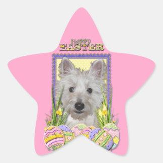 Easter Egg Cookies - West Highland Terrier - Tank Star Sticker
