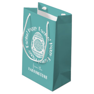 Happy easter gift bags zazzle easter egg custom small gift bag negle Choice Image