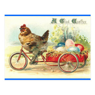 Easter Egg delivery service Postcard