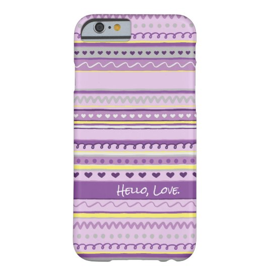 Easter Egg Drawing Pattern in Purple & Yellow Barely There iPhone 6 Case